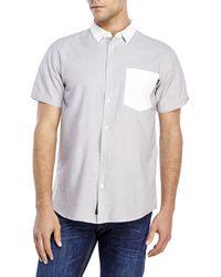 Wesc Randy Short Sleeve Sport Shirt silver - Lyst
