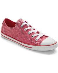 Converse Dainty Ox Lace-Up Low Top Sneakers red - Lyst