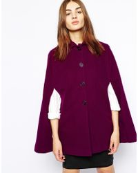 Helene Berman Cape with Collar - Lyst