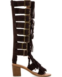 Jeffrey Campbell Hendrix Strappy Sandal in Brown - Lyst