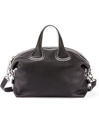 Givenchy - Nightingale Medium Grain Bicolor Satchel Bag - Lyst
