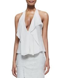 Donna Karan New York Sleeveless Petal Blouse - Lyst