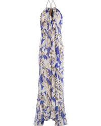 Roberto Cavalli | Embellished Silk Maxi Dress - Multicolor | Lyst