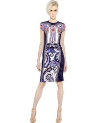 Mary Katrantzou Printed Cady Pencil Dress - Lyst