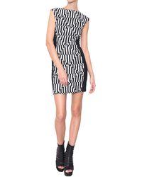 Gareth Pugh Viscose And Linen Dress With Zipper - Lyst