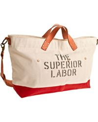 J.Crew Superior Labor™ Canvas And Leather Duffel Bag - Lyst