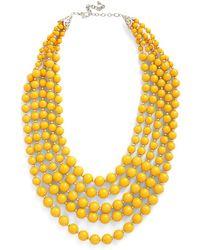 Zad Fashion Inc. - You Bijou Necklace In Saffron - Lyst