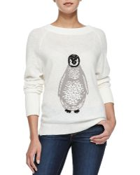 French Connection Boat-neck Sweater W Sequined Penguin - Lyst