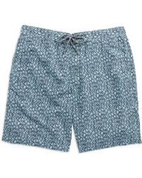 Hudson North - Circle Print Swim Shorts - Lyst