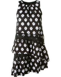 Thakoon Ruffled Printed Cotton Dress - Lyst