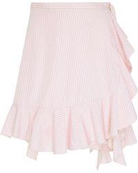 J.W. Anderson | Ruffle Hem Mini Skirt | Lyst