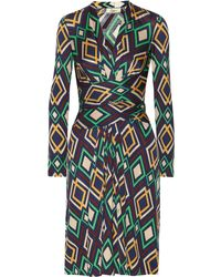Issa Diamondprint Silkjersey Dress - Lyst