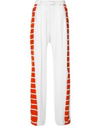 Preen Fine Wool Suiting Uni Pant in Ivory and Red Breton Stripe - Lyst