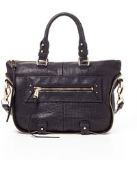 She + Lo Rise Above Perforated Leather Mini Satchel