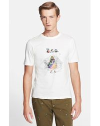 Band of Outsiders 'Rainbow Flasher' Graphic T-Shirt - Lyst
