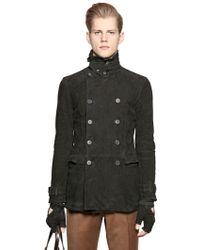 John Varvatos - Double Breasted Suede Colonial Jacket - Lyst