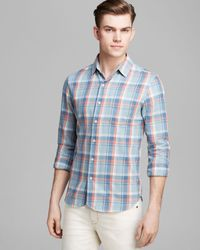 Joe's Jeans Plaid Sport Shirt Regular Fit - Lyst