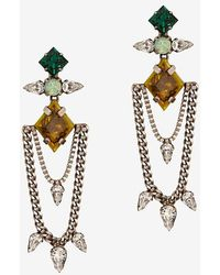 Dannijo Nadia Swag Chain Stone Earrings - Lyst