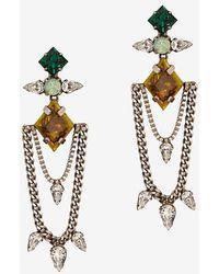 Dannijo Nadia Swag Chain Stone Earrings - Lyst