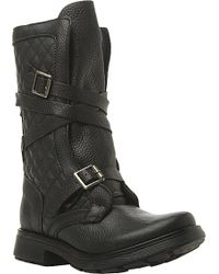 Steve Madden Bounty Quilted Leather Biker Boots - For Women black - Lyst