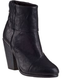 Rag & Bone Rag & Bone Newbury Ankle Boot Black Leather - Lyst