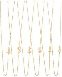 Jennifer Zeuner Mini Initial Necklace - Lyst