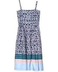 Suno Batik Stripes Spaghetti Strap Dress - Lyst