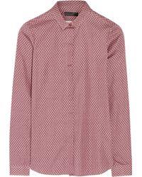 Burberry Prorsum Printed Cotton Poplin Shirt - Lyst