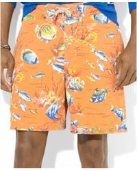 Ralph Lauren Polo East Hampton Fishprint Swim Trunks - Lyst