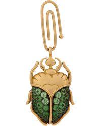 Aurelie Bidermann Gemstone Scarab Beetle Charm - Lyst