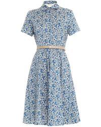 Weekend By Maxmara Blue Egemone Dress - Lyst