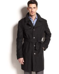 Lauren by Ralph Lauren | Lauren By Ralph Lauren Black Singlebreasted Trench Coat | Lyst