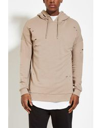 Forever 21 - Distressed Cotton-blend Hoodie You've Been Added To The Waitlist - Lyst