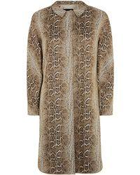 Giorgio Armani Snake Print Cocoon Coat - Lyst