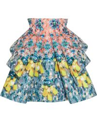 Mary Katrantzou Structured Printed Satingabardine Skirt - Lyst