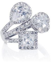Caroline Creba - Rhodium Plated Titania Fancy Cut Ring - Lyst