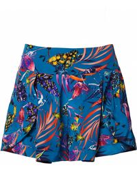 Matthew Williamson | Blue Marble Nature Print Shorts | Lyst