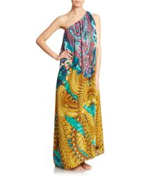 Camilla | Silk Print Convertible Maxi Dress | Lyst