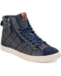 Diesel Blue D-String Sneakers - Lyst