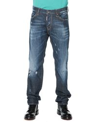 DSquared2 Zip-pocket Distressed Denim Jeans - Lyst