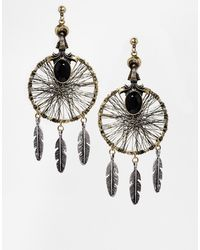 Asos Mystical Dreamcatcher Earrings - Lyst