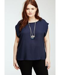 Forever 21 Cutout Bow Blouse - Lyst