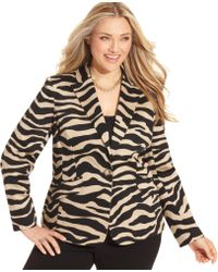 Jones New York B Animalprint Blazer - Lyst