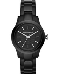 Karl Lagerfeld Unisex Slim Chain Black Ion-plated Stainless Steel Bracelet Watch 39mm - Lyst
