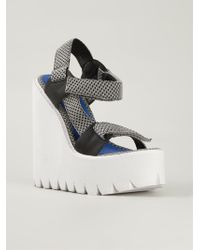 Jeffrey Campbell Velcro Strap Wedge Sandals - Lyst