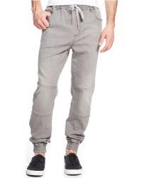 DKNY Grey-wash Jogger Jeans - Lyst