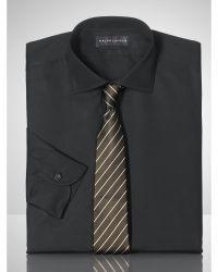 Ralph Lauren Black Label Solid Poplin Barrel Shirt - Lyst
