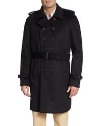 Burberry Prorsum Double-Breasted Cashmere-Blend Trench - Lyst