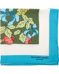 Richard James - Winter Floral Pocket Square - Lyst