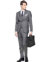 Brioni Bracciano Wool/Silk 3 Pieces Check Suit gray - Lyst